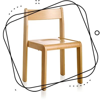 Stoli - pohištvo za vrtce Stol1 Midea